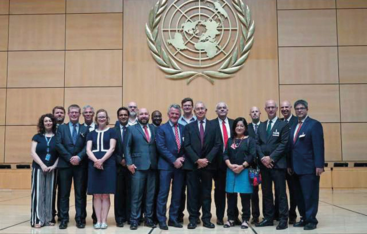 Founding members of the IFSS Coalition at the UN launch in Geneva July, 2018.