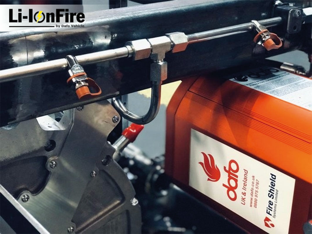 Dafo's Li-IonFire is specifically designed to prevent and suppress fire in EVs and HEVs.
