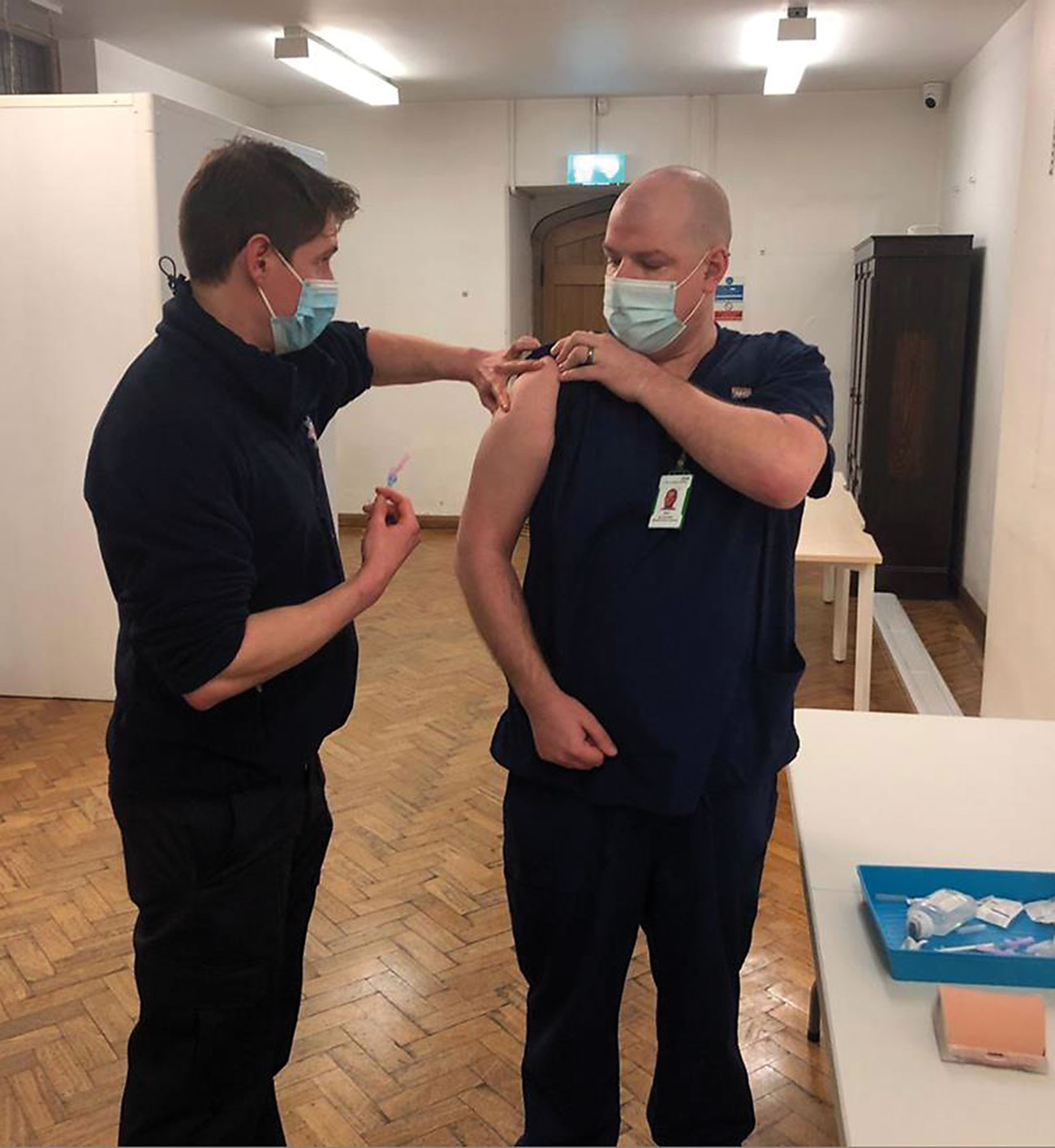 Firefighters from Lancashire Fire and Rescue were the first to be trained as volunteer vaccinators.