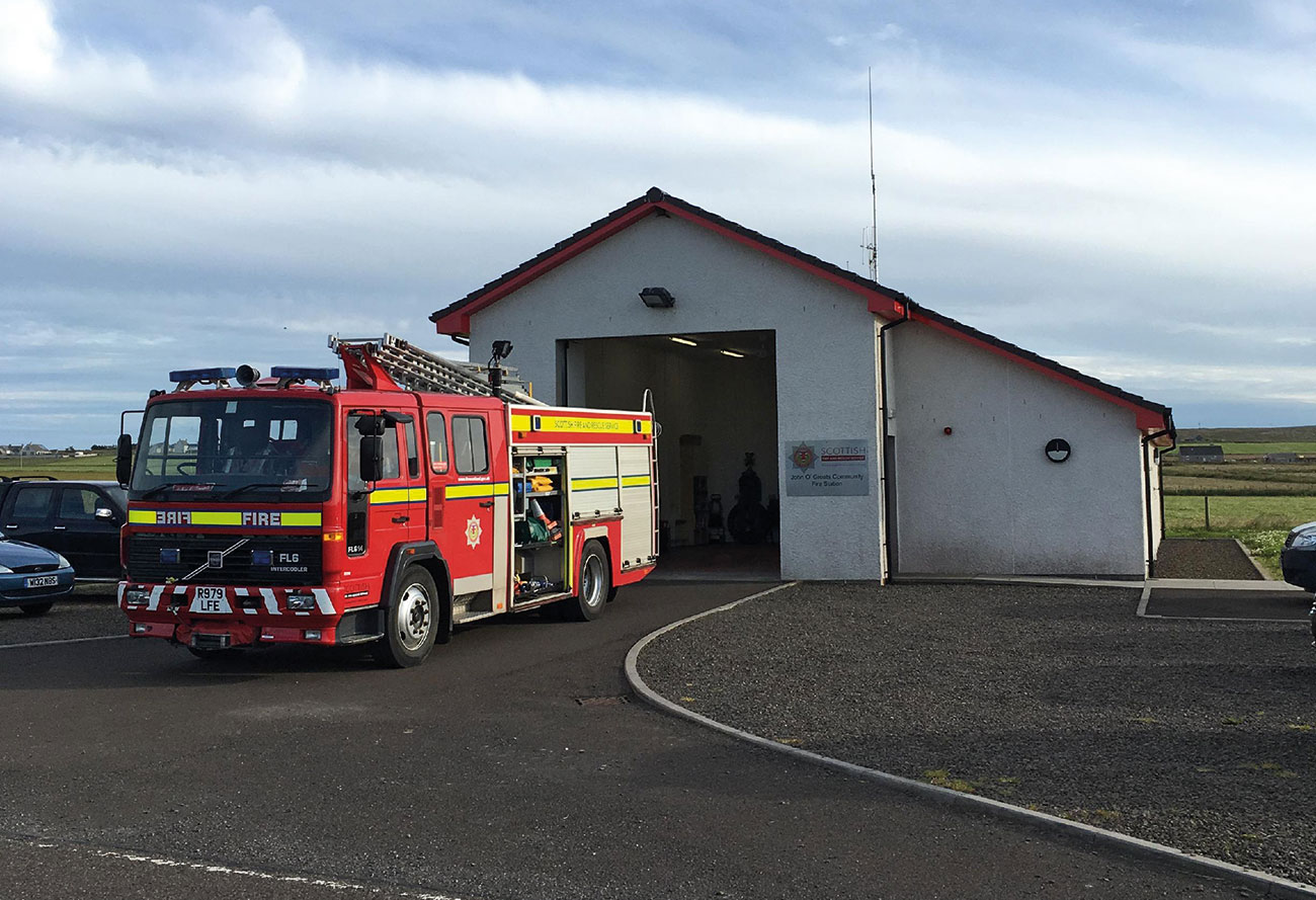 Fire Station within remote area of Scotland's Highland and Islands.