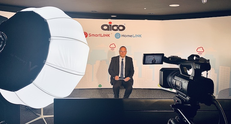 Steve Trafford, Sales Director for Aico, opening the 'What Makes a Healthy Home?' virtual event. (Aico)
