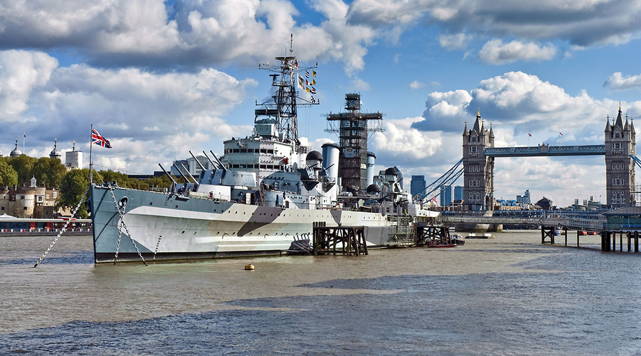 Around 350,000 tourists visit HMS Belfast, the Royal Navy's most significant surviving warship, each year.