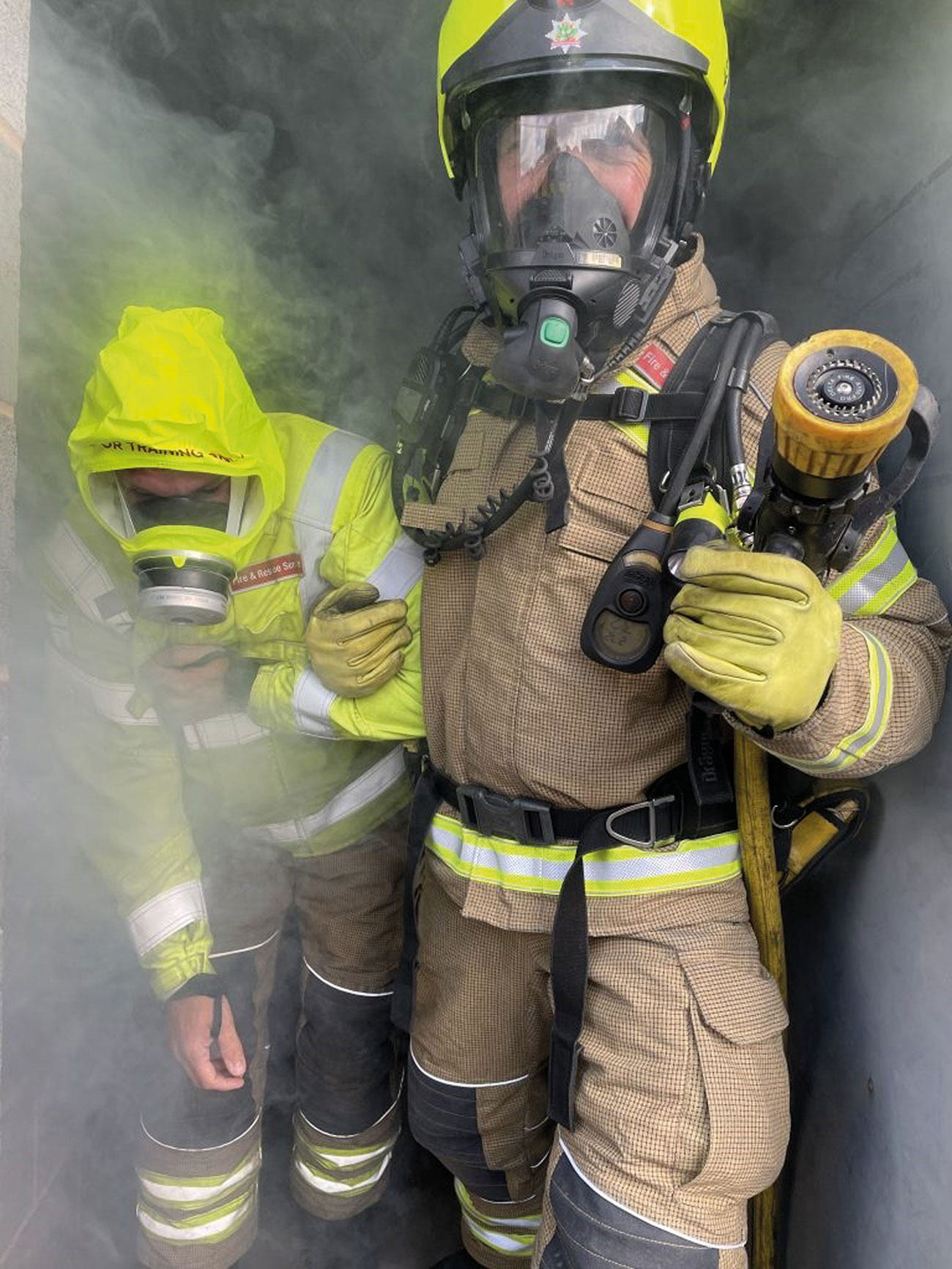 Firemaster 3 gloves in use with Nottinghamshire FRS.