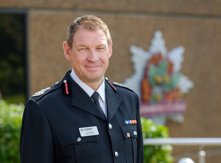 Chief Fire Officer of Nottinghamshire Fire and Rescue Service, John Buckley, is to retire in April 2022 after 26 years of service.