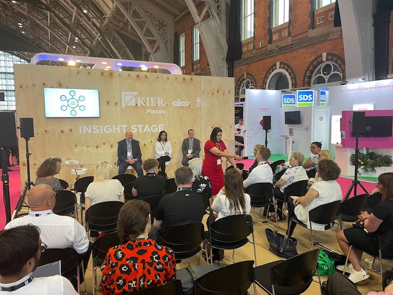 Aico's Relationships Manager, Tina Mistry, holding a panel session at Housing 2021. (Aico)