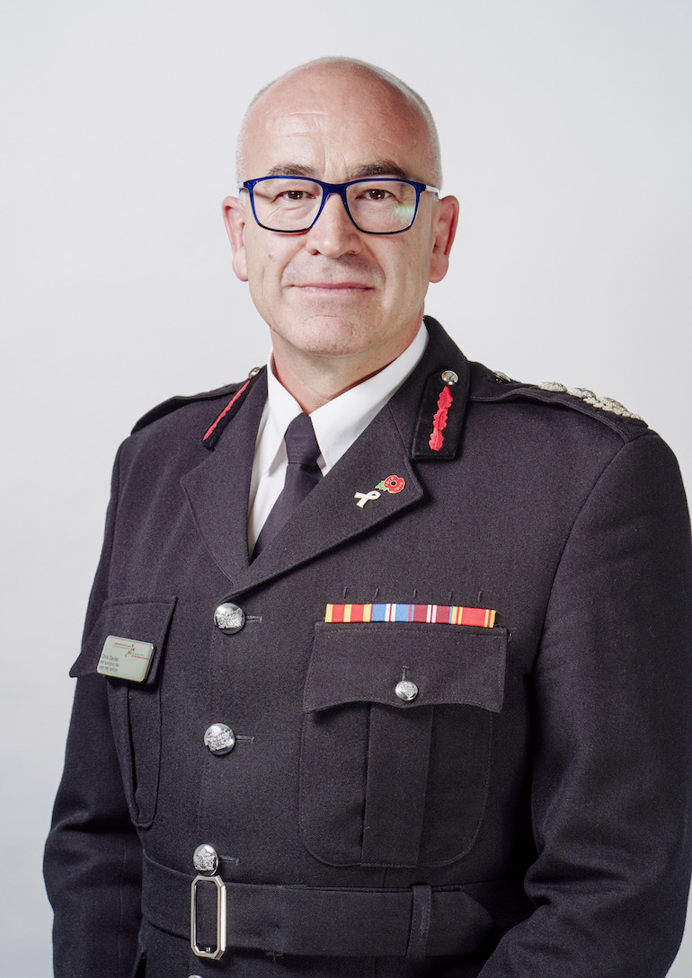Chris Davies, Chief Fire Officer, Mid and West Wales FRS.