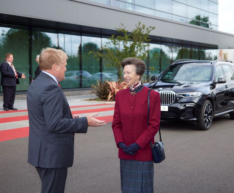 HRH Princess Anne on her Royal visit to Aico, pictured with Aico Managing Director Neal Hooper. (Aico)